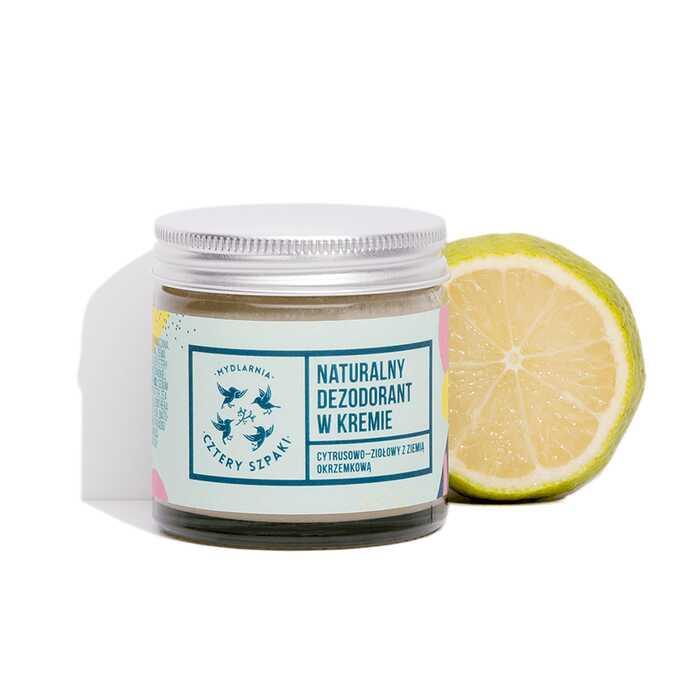 Mydlarnia Cztery Szpaki Naturalny dezodorant w kremie cytrusowo-ziołowy 60ml