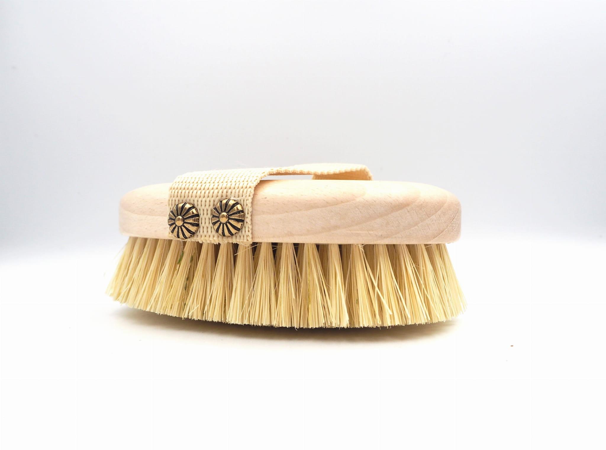 Brista Szczotka do mycia i masażu ciała - włosie z kaktusa agawy